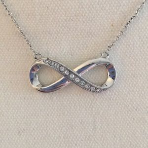 Infinity Swarovski Crystal Necklace.